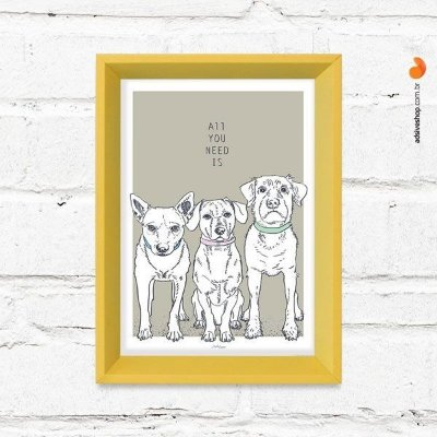 "Quadro Decorativo ""Dogs"""