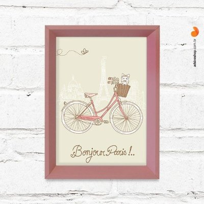 "Quadro Decorativo ""Bonjour Paris"""