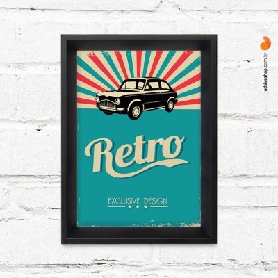 "Quadro Decorativo ""Retro Auto"""