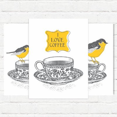 "Placas Decorativas ""Love Coffe"""