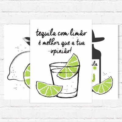 """Placas Decorativas """"Tequila com limão"""""""