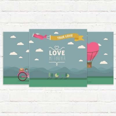 "Placas Decorativas ""Love Me Forever"""