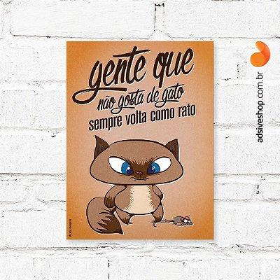 """Placa Decorativa """"Gato Rato"""""""