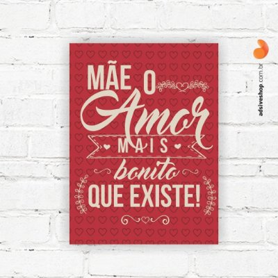 "Placa Decorativa ""Amor mais bonito"""