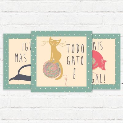 "Placas Decorativas ""Cat Lovers"""
