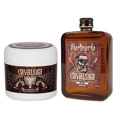 Kit Creme de Barbear e Loção Pós-Barba Bay Rum - Cavalera