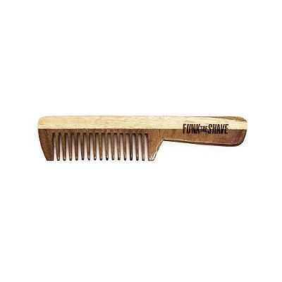 Pente de Madeira para Barba e Bigode Small - Funk The Shave