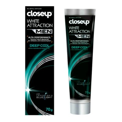 Gel Dental White Attraction Deep Cool 70g - Closeup Men