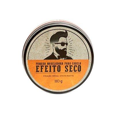Pomada Modeladora para Cabelo Efeito Seco 110g - Barba de Respeito