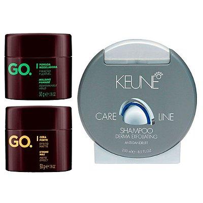 Kit Shampoo Anticaspa com Cera e Pomada Modeladora - Los Barbudos