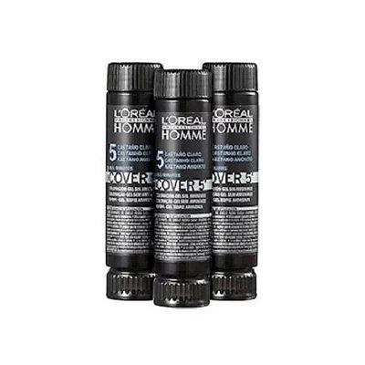 Kit c/ 3 Tonalizantes Cover 5' Castanho Claro 5 - L'Oréal Homme
