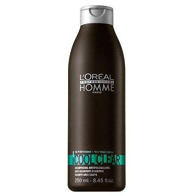 Shampoo Anti-Caspa Cool Clear 250ml - L'Oréal Homme