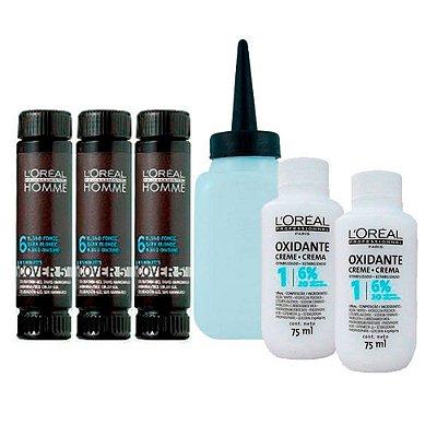 Kit c/ 3 Tonalizantes Cover 5' Louro Escuro 6 - L'Oréal Homme