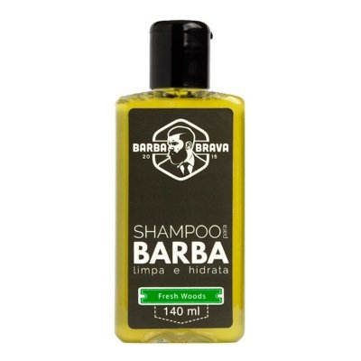Shampoo para Barba Fresh Woods 140ml - Barba Brava