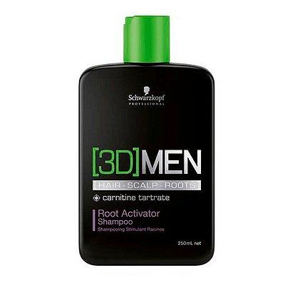 Shampoo Ativador de Raízes Root Activator 250ml - 3D Men