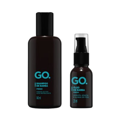 Kit Shampoo e Óleo de Barba Fresh - Go.