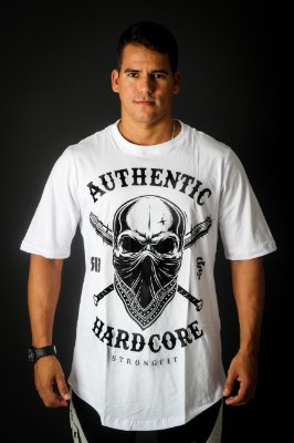 CAMISETA  MONSTER SIZE AUTHENTIC HARD CORE BRANCO