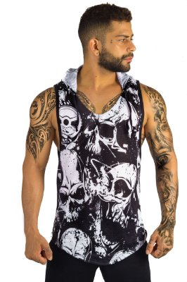 REGATA HOOD  FLAMÊ DIRTY SKULL