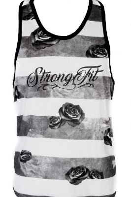 REGATA CAVADA STRONG FLORAL BRANCO