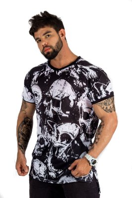 T-SHIRT LONG DIRTY SKULL