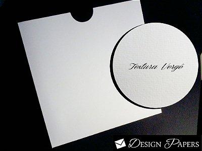 Envelope Branco Vergê 180g - Luva 21,5x21,5cm - 10 unidades