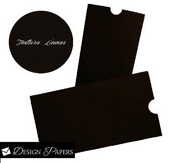 Envelope Marrom Textura Linear 240g - Luva 15x21cm - 25 unidades