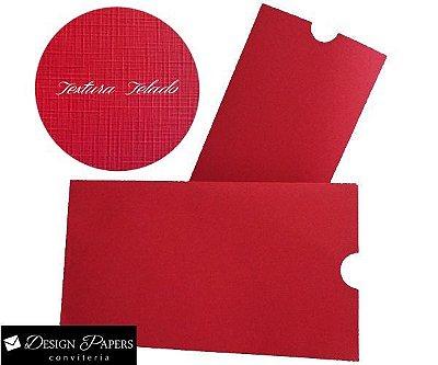 Envelope Vermelho Telado 180g - Luva 15,2x21,2cm - 40 unidades