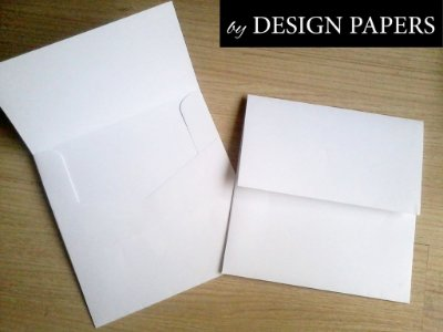 Envelope Branco Liso 180g - Aba Reta 15,5x15,5cm - 25 unidades