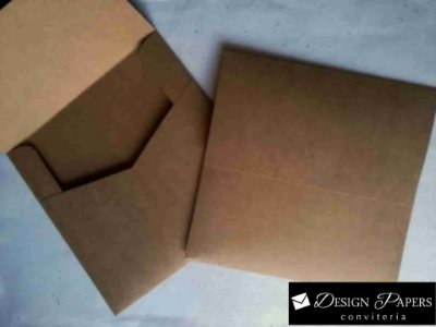 Envelope Kraft 200g - Aba Reta 15,5x15,5cm - Pacote com 10 unidades