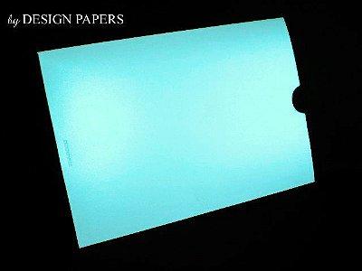 Envelope Perolado Tiffany 180g - Luva 15,2x21,2cm - 25 unidades