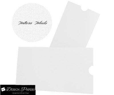 Envelope Branco Telado 180g - Luva 15,2x21,2cm - 25 unidades