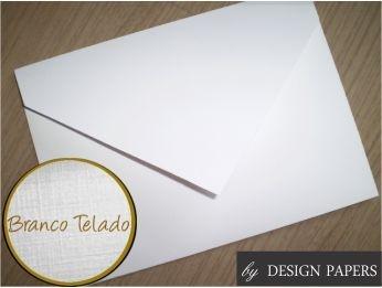 Envelope Branco Telado 180g - Aba Bico 16x11cm - 25 unidades