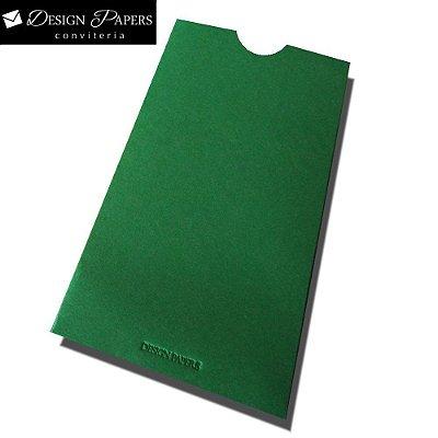 Envelope Verde Brasil - Luva 8x15cm - 25 unidades