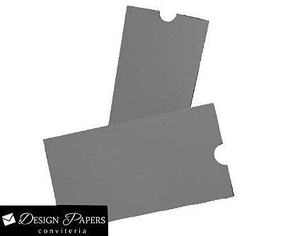 Mini Envelope Cinza Reciclado - Luva 7x10cm - 25 unidades