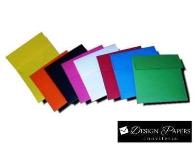 Envelope Quadrado Pequeno - 10,5x10,5cm - Pacote 25 unidades *Cores a escolher*