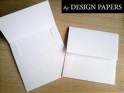 Envelope Quadrado Pequeno - Branco Vergê 180g - 10,5x10,5cm - 25 unidades