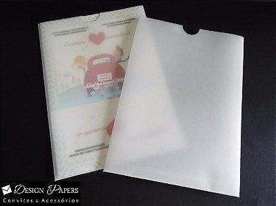 Envelope vegetal(transparente) 180g - Luva 15,2x21,2cm - 150 unidades - a produzir