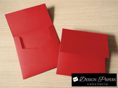 Envelope Vermelho liso 120g - Aba Reta - 20x20cm - 10 unidades