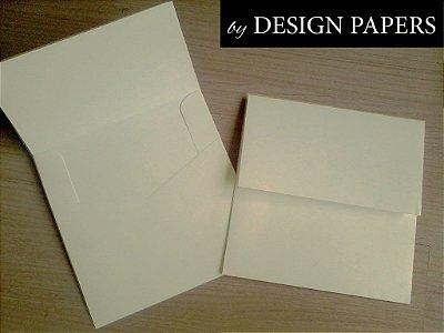 Envelope Off White 180g - Aba Reta 20x20cm - 10 unidades