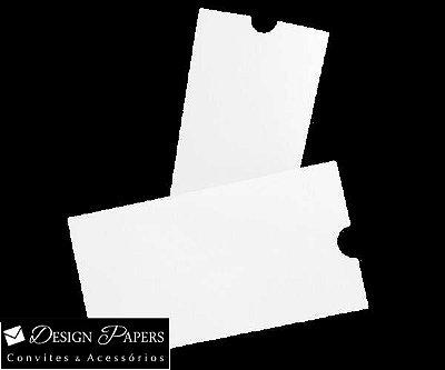 Envelope Branco Textura Linear 180g - Luva 15x27cm - 10 unidades