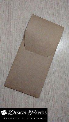 Envelope Kraft 200g - Bolso Vertical 12x26cm - Pacote com 10 unidades