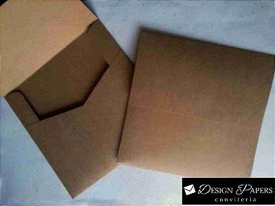 Envelope Kraft 200g - Aba Reta 20x20cm - Pacote com 10 unidades *ITEM A PRODUZIR