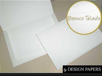 Envelope Branco Telado 180g - Moldura 15,2x21,5cm - 25 unidades