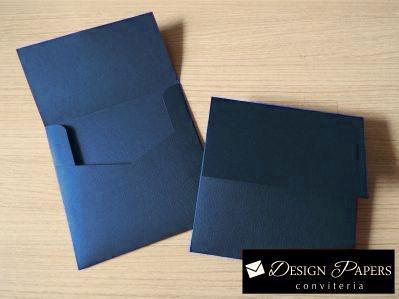 Envelope Azul Escuro Liso 180g - Aba Reta 20x20cm - 150 unidades *ITEM A PRODUZIR SOB ENCOMENDA*