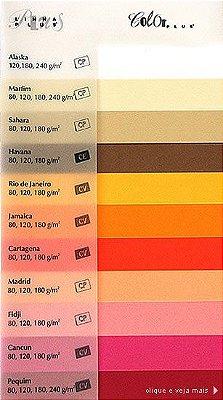 Papel Color Plus CORES VIVAS Liso 180g - 50 folhas