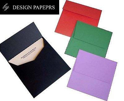 Envelope Quadrado 10,5x10,5cm - Preto liso 120g - 10 unidades