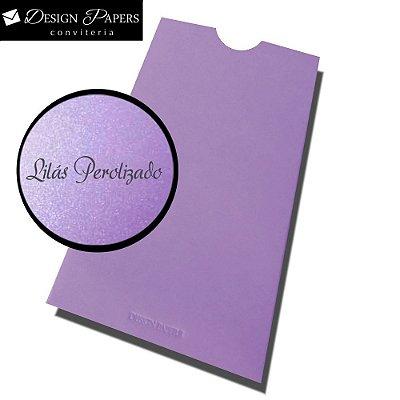 Envelope Lilás Perolado - Luva 8x15cm - 25 unidades