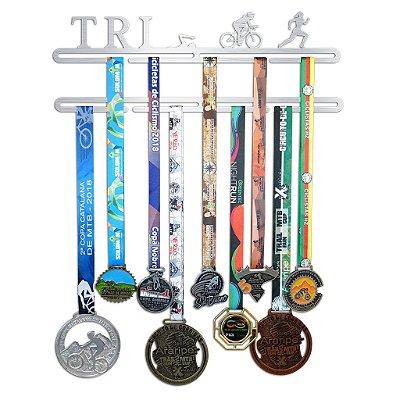 Porta Medalhas Triatlo Feminino - Tri