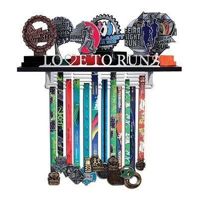 Porta Troféus e Medalhas Corrida Feminino - Love To Run