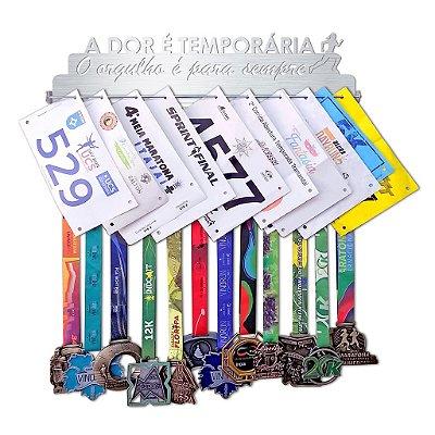 Porta Medalhas e Números de Peito Corrida Feminino